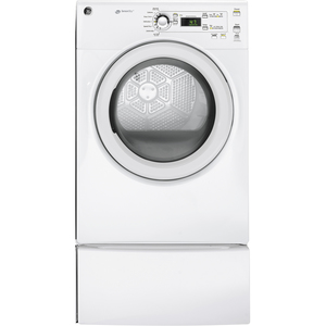 GE 7 cu. ft. Front Load Electric Dryer White GFMN110EDWW