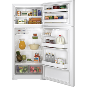 GE 15.5 cu.ft. Top Freezer Refrigerator White GTE16DTHWW