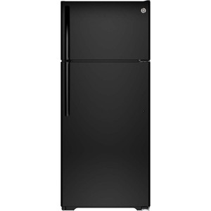 GE 17.5 cu.ft. Top Freezer Refrigerator Black GTS18GTHBB