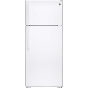 GE 17.5 cu.ft. Top Freezer Refrigerator White GTS18GTHWW
