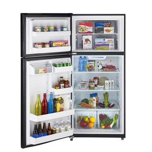 Moffat 18 cu.ft. Top Freezer Refrigerator Black MTS18GTHLBB